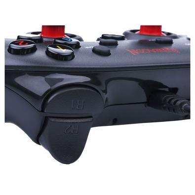 Controle Redragon Saturn PC/PS3 Preto Fosco/Vermelho - G807