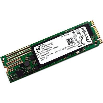 SSD Crucial 256GB, M.2, Leitura 530MB/s, Gravação 500MB/s - MTFDDAV256TBN