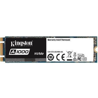SSD Kingston A1000, 960GB, M.2 NVMe, Leitura 1500MB/s, Gravação 1000MB/s - SA1000M8/960G