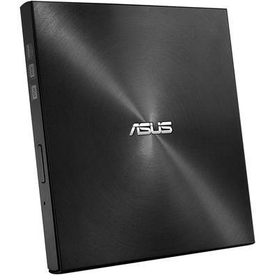 Drive ASUS Gravador Externo CD, DVD, ZenDrive U9M, Ultra-Slim, 1 tipo C+ 1 tipo A, Windows e MAC, Nero BackItUp - SDRW-08U9M-U/BLK/G/AS