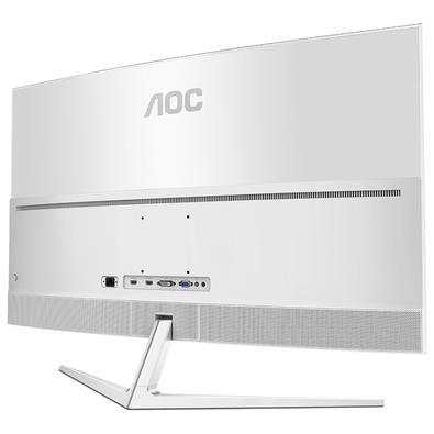 Monitor AOC LED 40´ Widescreen Curvo, Full HD, HDMI/VGA/DVI, Som Integrado, Altura Ajustável, Branco - C4008VH8