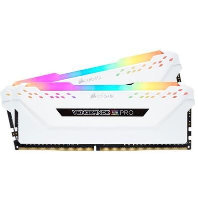 Memória Corsair Vengeance RGB Pro, 16GB (2x8GB), 3000MHz, DDR4, CL15, Branco - CMW16GX4M2C3000C15W