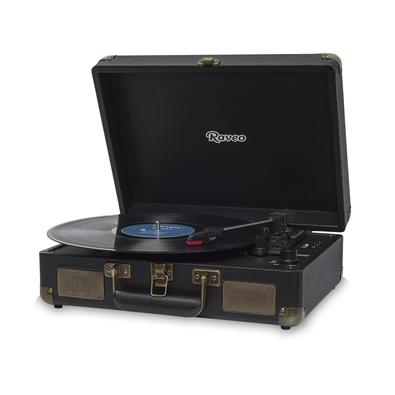Toca Discos Vitrola Raveo Sonetto - MP3, USB Reproduz e Grava, Aux. 10W RMS Preto
