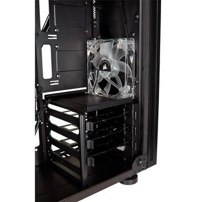 Gabinete Gamer Corsair Carbide SPEC-05 sem Fonte, Mid Tower, USB 3.0, 1 Fan LED Vermelho, Preto com Lateral em Acrílico - CC-9011138-WW