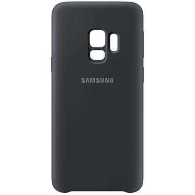 Capa Protetora Samsung Silicone Galaxy S9, Preto - EF-PG960TBEGBR