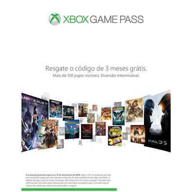 Console Microsoft Xbox One S 1TB Branco + 3 Meses Live Gold + 3 Meses Gamepass 234-00352