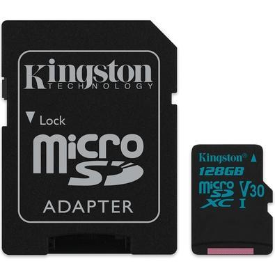 Cartão de Memória Kingston Canvas Go! MicroSD 128GB Classe 10 com Adaptador - SDCG2/128GB