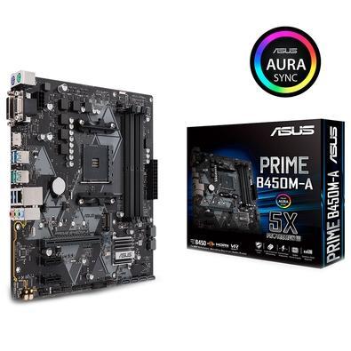 Placa-Mãe ASUS p/ AMD AM4 mATX PRIME B450M-A, DDR4