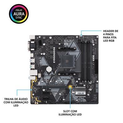 Placa-Mãe Asus Prime B450M-A, AMD AM4, mATX, DDR4