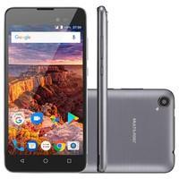 Smartphone Multilaser MS50L, 8GB, 8MP, Tela 5´, Preto e Grafite + Cartão 32GB, Capa e Película - P9090
