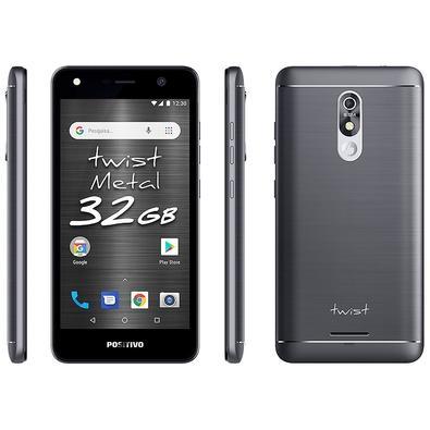 Smartphone Positivo Twist Metal S531, 32GB, 8MP, Tela 5.2´, Cinza