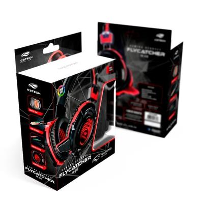 Headset Gamer C3 Tech Flycatcher, P2 e USB, Preto e Vermelho - PH-G10BK