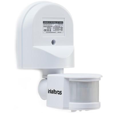 Sensor de Presença Intelbras para Iluminação, Alcança até 12m, Branco - ESP 180 AE