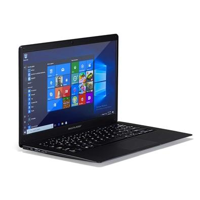 Notebook Multilaser Intel Dual Core N3350, RAM 4GB, HD 32GB, 14.1´, Windows 10, Preto - PC208