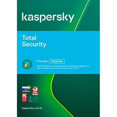 Kaspersky Antivírus Total Security 2020 Multidispositivos 5 PCs - Digital para Download
