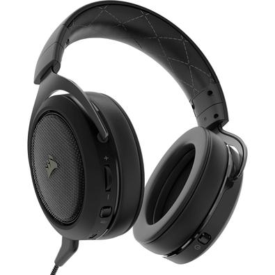 Headset Gamer Corsair HS70 Wireless 7.1 Carbon, Preto - CA-9011179-NA