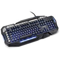 Teclado Semi Mecânico Gamer Warrior Kilian, LED, ABNT2 - TC226