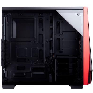 Gabinete Corsair Carbide SPEC-04, Mid Tower, Preto e Vermelho com Lateral em Vidro Temperado - CC-9011117-WW