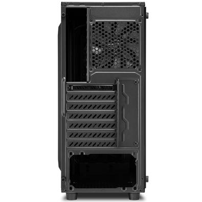Gabinete Gamer Sharkoon TG4 Red sem Fonte, Mid Tower, USB 3.0, 4 Fans, Preto com Lateral em Vidro
