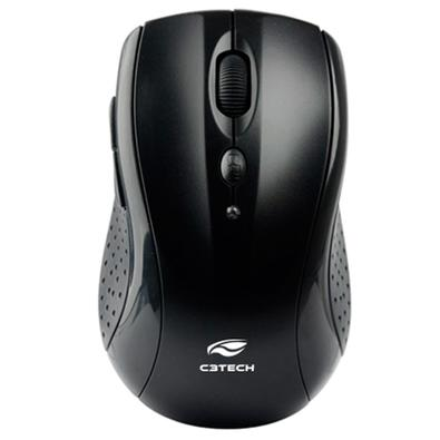 Mouse Wireless Óptico Led 1600 Dpis M-w012bk C3 Tech