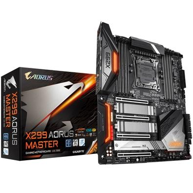 Placa-Mãe Gigabyte X299 Aorus Master, Intel LGA 2066, eATX, DDR4 (Rev. 1.0)