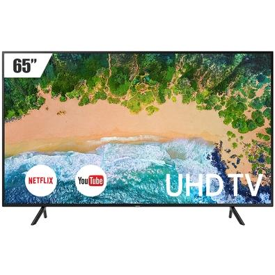 Smart TV LED 65´ UHD 4K Samsung, 3 HDMI, 2 USB, Wi-Fi, HDR - LH65BENELGA/ZD
