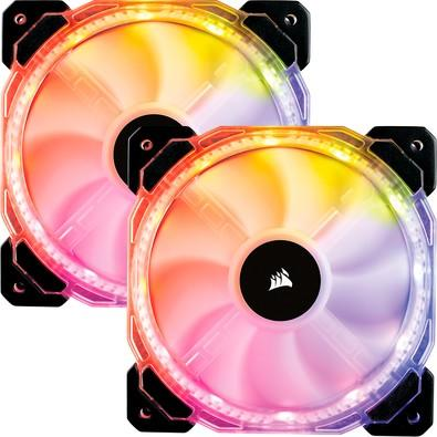 Cooler Fan Corsair HD140 Twin, 14cm, RGB, com Controlador - CO-9050069