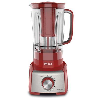 Liquidificador Philco, 1200W, 127V, Vermelho/Prata - PLQ912V