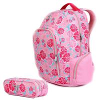 Mochila Escolar Capricho de Costa Liberty Pink DMW com Nécessaire Tam Grande Ref 11336