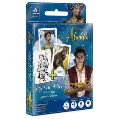 Jogo de Cartas Mico Aladdin Disney e Cartas para Colorir - Copag