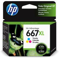 Cartucho de Tinta HP 667XL 3YM80AL Tricolor Advantage Original