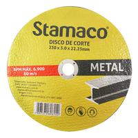 Disco De Corte Metal 230x 3.0x 22,23mm Stamaco 230mm