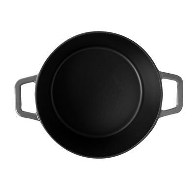 Caçarola de Ferro Fundido 20cm 2,5L Sauté Haus Cinza 57502/150