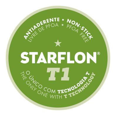 Jogo de Panelas Tramontina Paris em Alumínio com Revestimento Antiaderente Starflon  Vermelho 7 Pçs Tramontina
