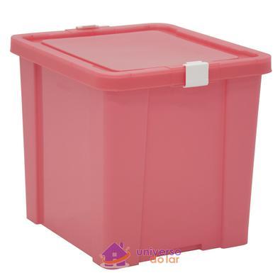 Caixa Organizadora 42L Rosa Basic Tramontina
