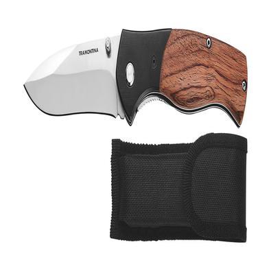 Canivete Tramontina com Lâmina em Aço Inox com Cabo de Alumínio e Madeira Tramontina