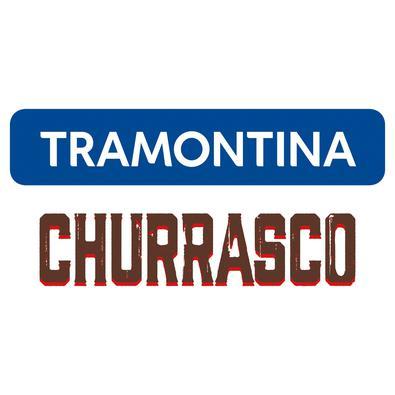 Faca Jumbo para Churrasco Tramontina com Lâmina de Aço Inox e Cabo em Madeira Tramontina