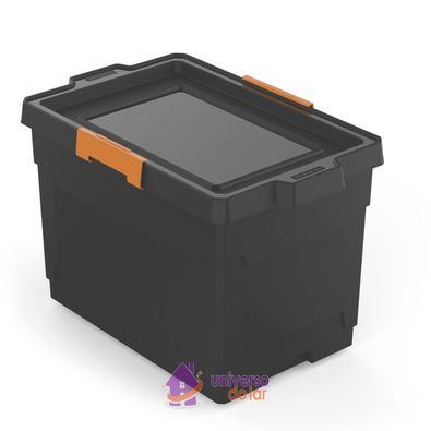 Caixa Organizadora 60L Preto Basic Tramontina