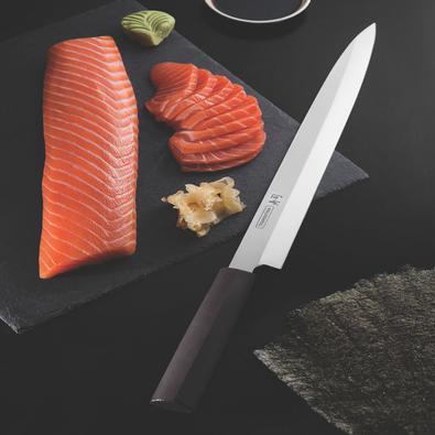 Faca Yanagiba Tramontina Sushi com Lâmina em Aço Inox e Cabo de Nylon 13
