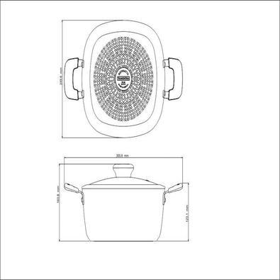 Caçarola Retangular Tramontina Refinatta Alumínio Revestimento Antiaderente Starflon 24 cm 4,8 L Tramontina