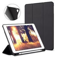 Capa Case Smart Cover iPad 9.7 Apple Preta - Suporte Pencil Caneta