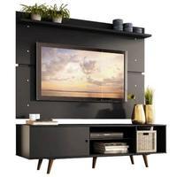 Rack e Painel Dubai Madesa para TV até 65 Polegadas com Pés, Preto/Rustic