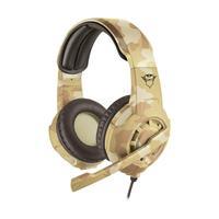 Headset Gamer Trust GXT Radius Desert Camo com fio - Multiplataforma