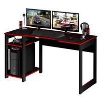 Mesa para Escritório Gamer Tecno Mobili, Preto, Vermelho - ME4152