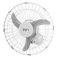 Ventilador de Parede Oscilante Tron C1, 50cm, 140W, Bivolt, Branco
