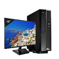 Mini Computador ICC SL2381DM19 Intel Core I3 8gb HD 500GB DVDRW Monitor 19,5 Windows 10