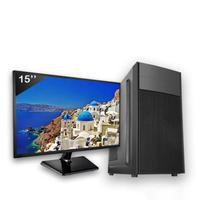 Computador Completo Icc Intel Core I3 4gb Hd 1tb Windows 10 Monitor 15
