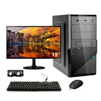 Computador Completo Corporate Asus 4° Gen I3 8gb 240gb Ssd Monitor 19