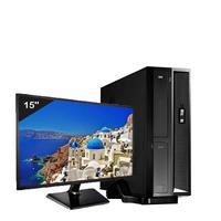Mini Computador ICC SL2387Dm15 Intel Core I3 8gb HD 240GB DVDRW Monitor 15