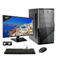 Computador Completo Icc Core I3 4gb Hd 120gb Ssd Windows 10 Monitor 15